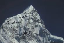 Mount Everest multi signed photograph?.