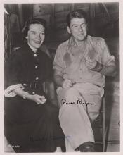 Ronald and Nancy Reagan signed photograph.