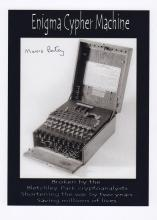 The Enigma Code Machine signed photo.