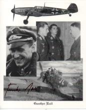 Günther Rall signed photo.