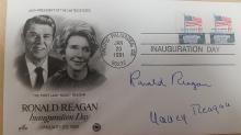 RONALD AND NANCY REAGAN FDC INAUGURATION.