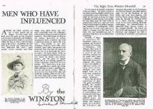 WINSTON CHURCHILL SIGNED PAGE.