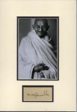 MAHATMA GANDHI SIGNED PAPER.