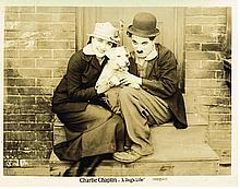 CHARLIE CHAPLIN - A DOG'S LIFE (FIRST NATIONAL 1918), STILL 8x10