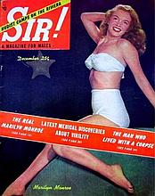 SIR! MAGAZINE 1953 MARILYN MONROE ON COVER