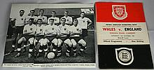 1961 ENGLAND SQUARD SIGNED PICTURE AND PROGRAMME.