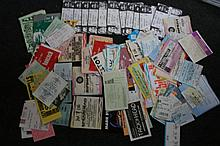 TICKET COLLECTION OF OVER 100 TICKETS - JAMES BROWN, GENESIS ETC.