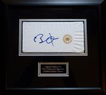 President Barack Obama signed napkin.