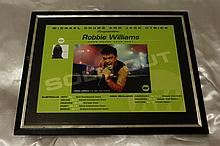 ROBBIE WILLIAMS SOLD OUT DOWN UNDER POSTER