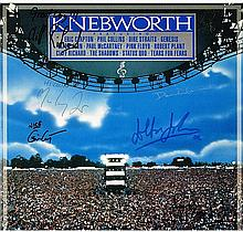 KNEBWORTH SIGNED LP BY PAUL MCCARTNEY AMONG OTHERS.