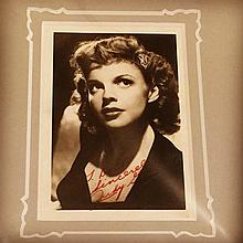 JUDY GARLAND SIGNED PHOTO.