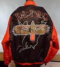 ELTON JOHN OWNED BASEBALL JACKET.