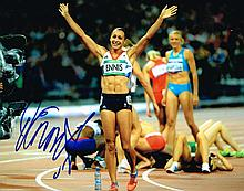 JESSICA ENNIS SIGNED PHOTO.