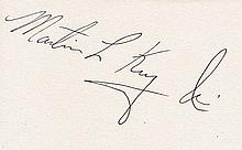 MARTIN LUTHER KING JR SIGNED PAPER.