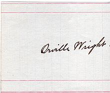 ORVILLE WRIGHT SIGNED PAPER.
