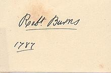 ROBERT BURNS SIGNED PAPER.