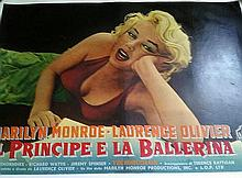 MARILYN MONROE VINTAGE 1957 PRINCE AND THE SHOWGIRL LINEN BACKED HALF SHEET.