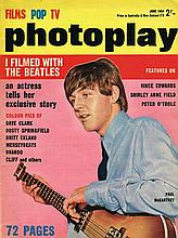 PHOTOPLAY JUNE 1964 - I FILMED WITH THE BEATLES MAGAZINE