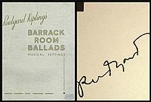 RUDYARD KIPLINGS BARRACK ROOM BALLADS AUTOPEN