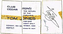 A TOM JONES SIGNED 1966 CONCERT TICKET