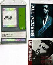 GEORGE MICHAEL ACCESS PASSES INCLUDING THE DRUMMERS PASS