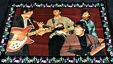 THE BEATLES - LARGE PIN UP RUG.