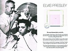 A CUTTING OF ELVIS PRESLEY'S HAIR.