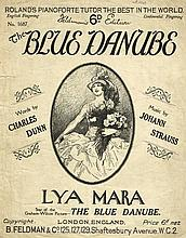 THE BLUE DANUBE FILM SHEET MUSIC 1926 - LYA MARA