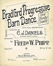 BRADFORD PROGRESSIVE BARN DANCE 1920 SHEET MUSIC.