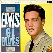 ELVIS PRESLEY G.I. BLUES 1ST LP UK PRESS SILVER RCA LOGO.