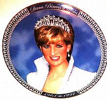 FRANKLIN MINT - A TRIBUTE TO PRINCESS DIANA PLATE- ARTIST DREW STRUZAN.