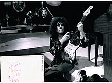 MARC BOLAN SIGNED CARD DISPLAY.