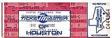 THE JACKSONS NOV 9TH 1984 VICTORY TOUR TICKET WITH STUB - TEXAS USA.