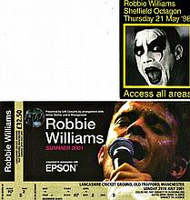 ROBBIE WILLIAMS ACCESS ALL AREAS PASS AND A TICKET.