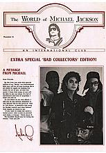 THE WORLD OF MICHAEL JACKSON BAD REPRODUCTION BOOKLET.