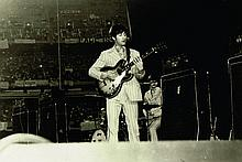 THE BEATLES AT SHEA STADIUM ON STAGE 1965 PHOTO