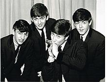THE BEATLES BLACK AND WHITE PHOTO