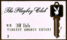 VINTAGE PLAYBOY 1960'S MEMBERSHIP CARD.