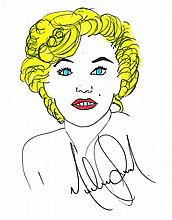 MICHAEL JACKSON: MARILYN MONROE DRAWING.