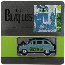 THE BEATLES DIE CAST 'LET IT BE TAXI' AND T SHIRT.