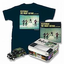 THE BEATLES DIE CAST 'YESTERDAY TAXI' AND T SHIRT.
