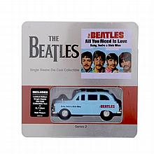 THE BEATLES DIE CAST 'ALL YOU NEED IS LOVE TAXI' AND T SHIRT.