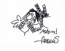 SERGIO ARAGONES MAD COMIC DRAWING.