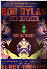 BOB DYLAN - CONCERT POSTER FOR THE TIME OUT OF MIND TOUR
