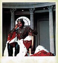 MICHAEL JACKSON IN ROYAL GARB SIGNED PICTURE.