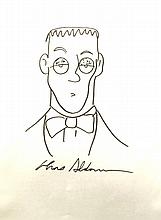 CHARLES ADDAMS: SIGNED DRAWING OF LURCH.