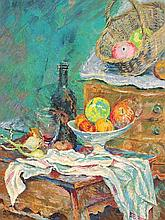 STILL LIFE (HOMAGE TO CEZANNE'S) ROLF HARRIS SIGNED PRINT.