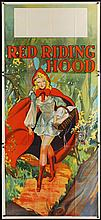 ORIGINAL RED RIDING HOOD STAGE PLAY 1930'S 3 SHEET POSTER. 41X85 INCHES.