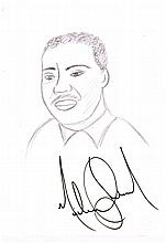 MICHAEL JACKSON: MARTIN LUTHER KING DRAWING.