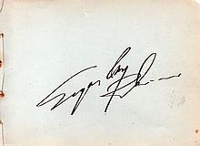 SUGAR RAY LEONARD SIGNED PAPER.